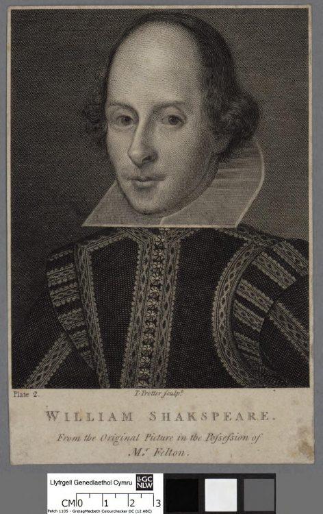 gravură dramaturg englez, scriitor englez