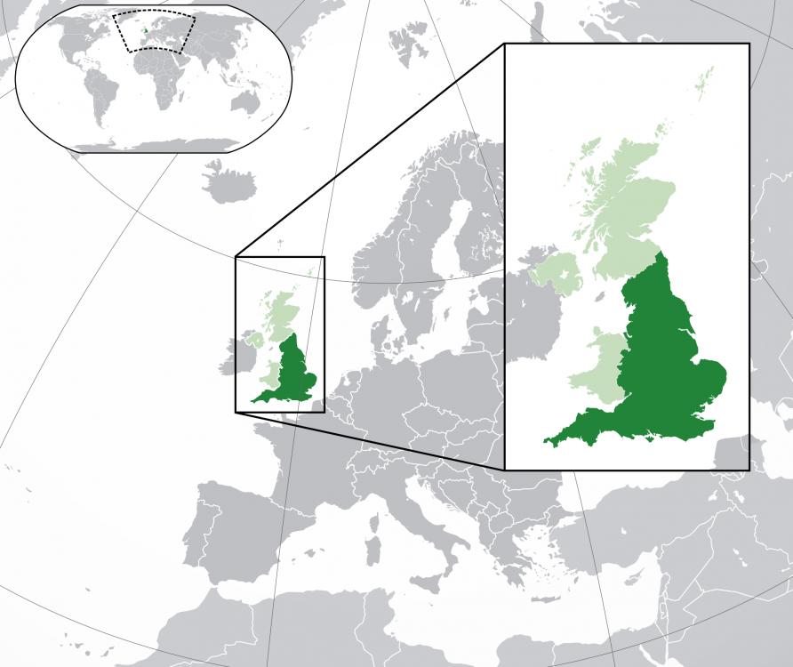 Anglia în cadrul Marii Britanii, Europei şi lumii