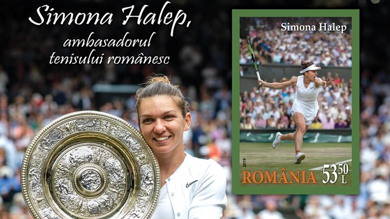jucătoare de tenis română timbru