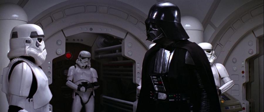Darth Vader şi soldaţii imperiali